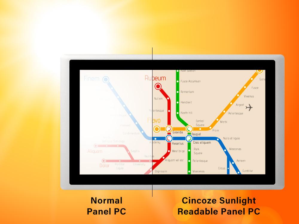 德承的阳光下可视工业平板电脑