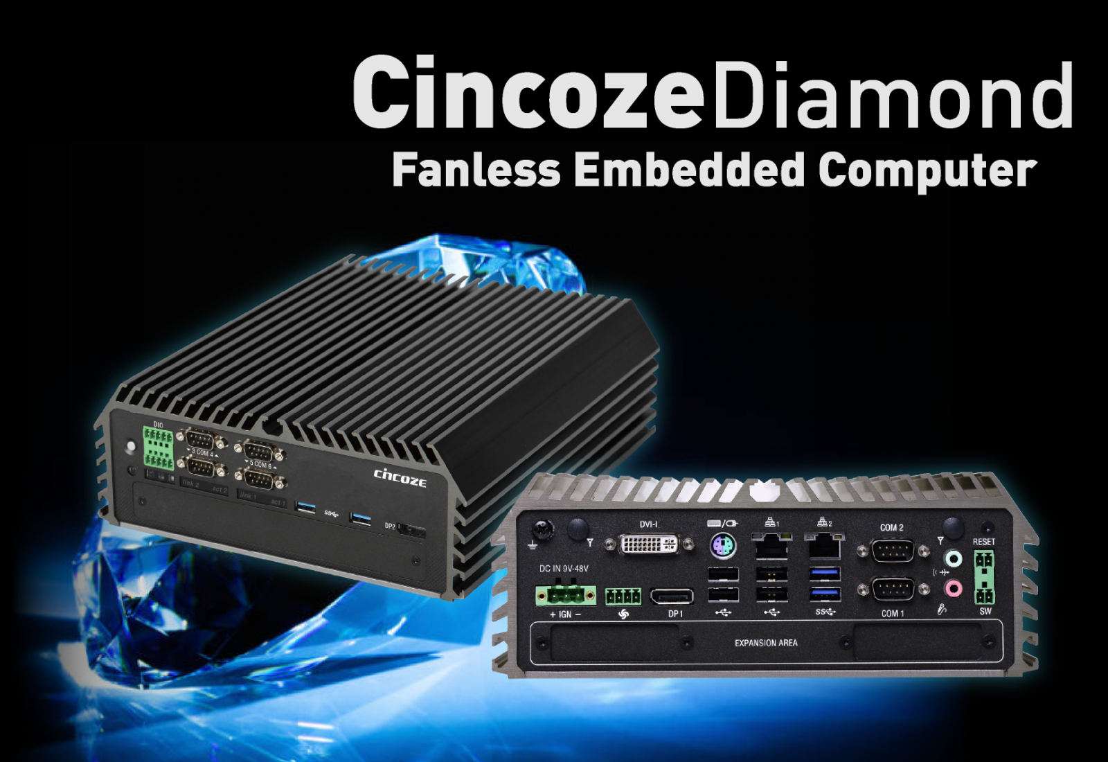 cincoze diamond embedded fanless computer